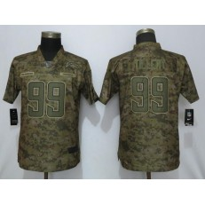 Women Nike Los Angeles Chargers 99 Jerry Tillery Camo Salute To Service Limited Jersey