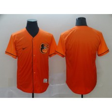 MLB Baltimore Orioles Blank Orange Drift Fashion Jersey