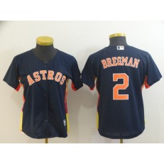 MLB Houston Astros 2 Alex Bregman Navy Women Cool Base Jersey
