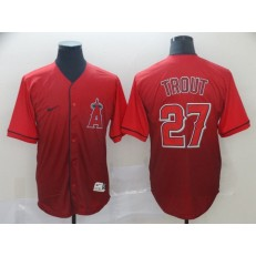 MLB Los Angeles Angels 27 Mike Trout Red Drift Fashion Men Jersey