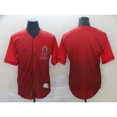 MLB Los Angeles Angels Blank Red Drift Fashion Men Jersey