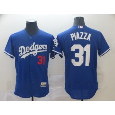 MLB Los Angeles Dodgers 31 Mike Piazza Blue Flexbase Men Jersey