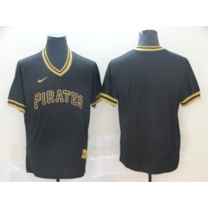 MLB Pittsburgh Pirates Blank Black Gold Nike Cooperstown Collection Legend V Neck Men Jersey