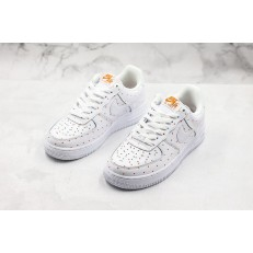 NIKE WMNS AIR FORCE 1 LOW 07 WHITE ORANGE AT5019-100