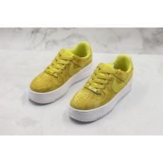 NIKE WMNS AIR FORCE 1 LOW SAGE CELERY YELLOW WHITE AR5339-300