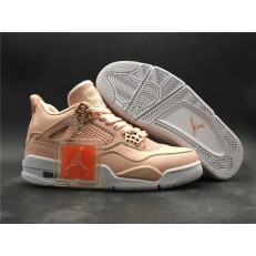 AIR JORDAN 4 RETRO HI GS WHITE PINK ROSE GOLD 308497-601
