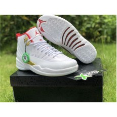 AIR JORDAN 12 RETRO FIBA WHITE UNIVERSITY RED 130690-107