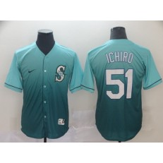 MLB Seattle Mariners #51 Ichiro Suzuki Green Drift Fashion Jersey