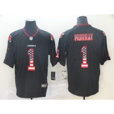 Arizona Cardinals #1 Kyler Murray Black USA Flag Fashion Limited Nike NFL Men Jersey