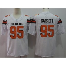 Cleveland Browns #95 Myles Garrett White Vapor Untouchable Player Limited Nike NFL Men Jersey