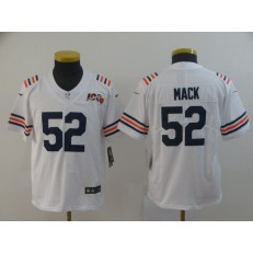 Youth Nike Chicago Bears #52 Khalil Mack White 2019 100th Season Alternate Classic Vapor Untouchable Limited Jersey
