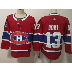 Montreal Canadiens #13 Max Domi Red Adidas NHL Men Jersey