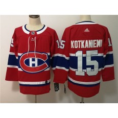 Montreal Canadiens #15 Jesperi Kotkaniemi Red Adidas NHL Men Jersey