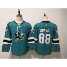 San Jose Sharks #88 Brent Burns Teal Youth Adidas DHL Jersey