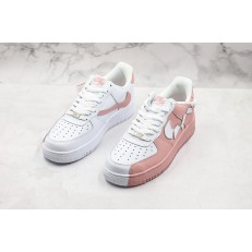 NIKE AIR FORCE 1 LOW WHITE PINK BROKE SWOOSH 315124-600