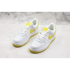 NIKE AIR FORCE 1 LOW WHITE YELLOW AH0287-100