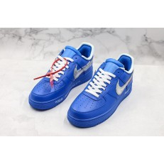 Off-White x Nike Air Force 1 Low Blue Silver AO4297-400