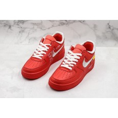 Off-White x Nike Air Force 1 Low Red Silver CI1173-600