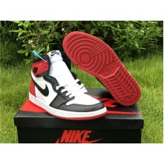 AIR JORDAN 1 HI SATIN BLACK TOE CD0461-016