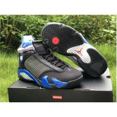 SUPREME x AIR JORDAN 14 BLACK ROYAL BLUE BV7630-004
