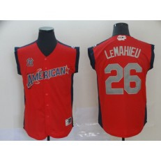 American League #26 DJ LeMahieu Red 2019 MLB All-Star Game Player Jersey