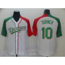 MLB Los Angeles Dodgers #10 Justin Turner White Mexican Heritage Culture Night Men Jersey