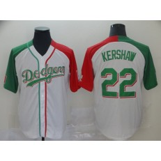 MLB Los Angeles Dodgers #22 Clayton Kershaw White Mexican Heritage Culture Night Men Jersey