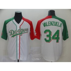 MLB Los Angeles Dodgers #34 Fernando Valenzuela White Mexican Heritage Culture Night Men Jersey