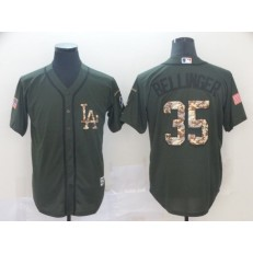 MLB Los Angeles Dodgers #35 Cody Bellinger Olive Camo Salute To Service Cool Base Men Jersey