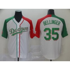 MLB Los Angeles Dodgers #35 Cody Bellinger White Mexican Heritage Culture Night Men Jersey