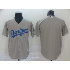 MLB Los Angeles Dodgers Blank Gray Cool Base Men Jersey