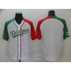 MLB Los Angeles Dodgers Blank White Mexican Heritage Culture Night Men Jersey