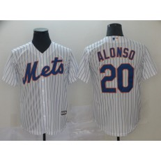 MLB New York Mets #20 Pete Alonso White Cool Base Men Jersey