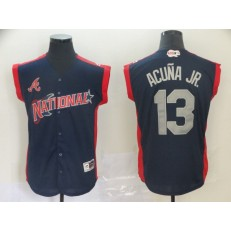 National League #13 Ronald Acuna Jr. Navy 2019 MLB All Star Game Player Jersey