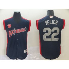 National League #22 Christian Yelich Navy 2019 MLB All-Star Game Player Jersey
