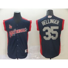 National League #35 Cody Bellinger Navy 2019 MLB All-Star Game Workout Player Jersey
