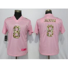 Women Nike Baltimore Ravens #8 LaMar Jackson Pink Camo Fashion Limited Jersey