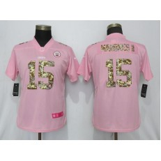 Women Nike Kansas City Chiefs #15 Patrick Mahomes II Pink Camo Fashion Limited Jersey