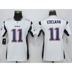 Women Nike New England Patriots #11 Julian Edelman White Vapor Untouchable Limited Jersey
