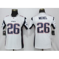 Women Nike New England Patriots #26 Sony Michel White Vapor Untouchable Limited Jersey