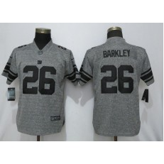 Women Nike New York Giants #26 Saquon Barkley Gray Gridiron Gray Vapor Untouchable Limited Jersey