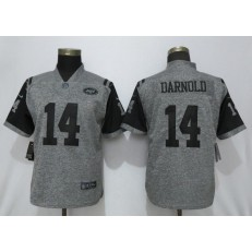 Women Nike New York Jets #14 Sam Darnold Gray Gridiron Gray Vapor Untouchable Limited Jersey
