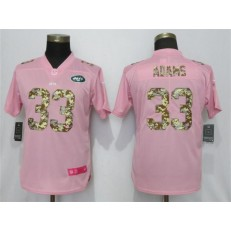 Women Nike New York Jets #33 Jamal Adams Pink Camo Fashion Limited Jersey