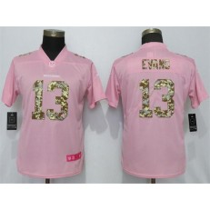 Women Nike Tampa Bay Buccaneers #13 Mike Evans Pink Camo Fashion Limited Jersey