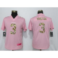 Women Nike Tampa Bay Buccaneers #3 Jameis Winston Pink Camo Fashion Limited Jersey