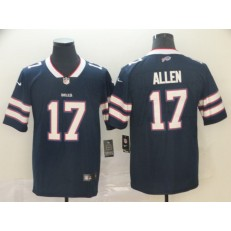 Buffalo Bills #17 Josh Allen Navy Inverted Legend Limited Nike NFL Men Jersey