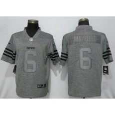 Cleveland Browns #6 Baker Mayfield Gray Gridiron Gray Vapor Untouchable Limited Nike NFL Men Jersey