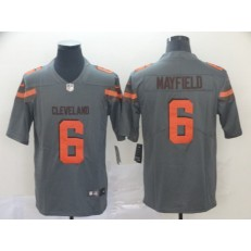 Cleveland Browns #6 Baker Mayfield Gray Inverted Legend Limited Nike NFL Men Jersey