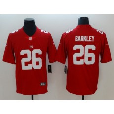 New York Giants #26 Saquon Barkley Red Inverted Legend Limited Nike NFL Men Jersey