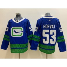 Vancouver Canucks 53 Bo Horvat Blue Adidas NHL Men Jersey